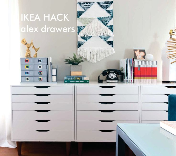 IKEA hack - alex upgrade. Add furniture legs to your Alex drawer units