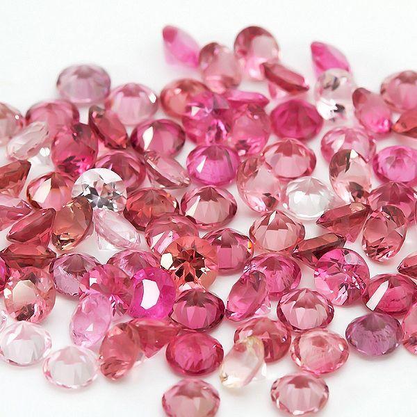 3.5mm round pink tourmaline