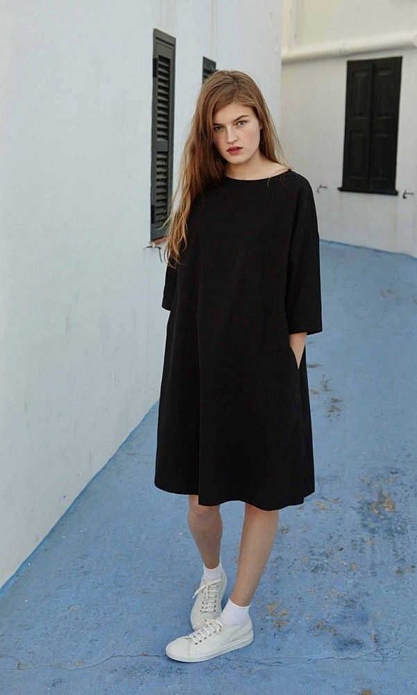 Black shift dress - Plümo Ltd