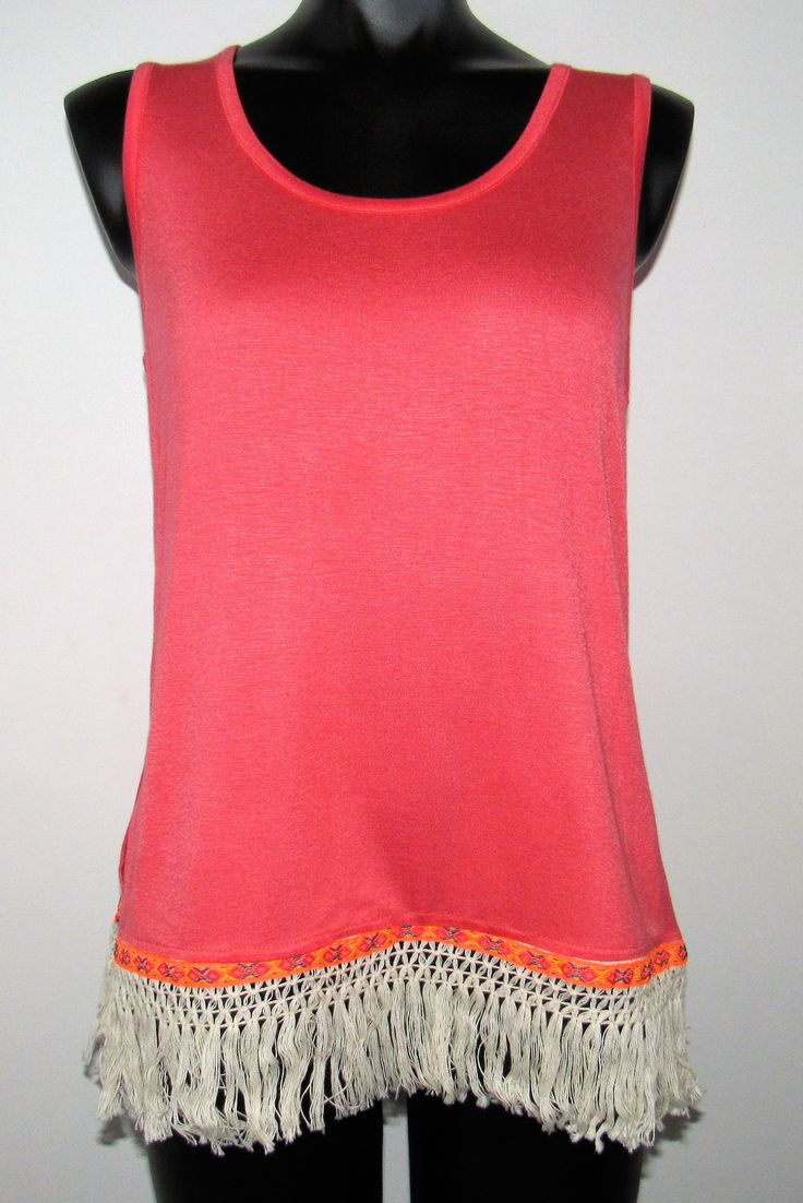 Coral Cami with Trim