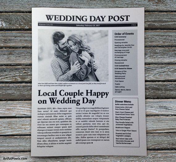 1000+ Ideas About Wedding Newspaper On Pinterest