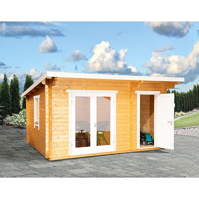 Gartenhaus Holz 2 Raume In 2021 Gartenhaus Holz Gartenhaus Flachdach Gartenhaus