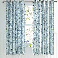 Aviana Duck Egg Blue Eyelet Curtains - 66 x 72""