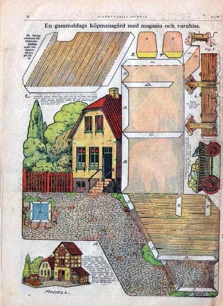 Fachwerkhaus aus Papier