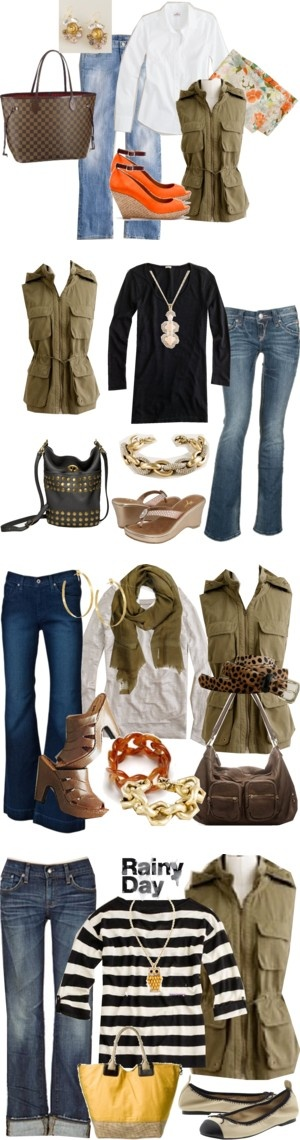 """Khaki Vest"" by allaboutmoi ❤ liked on Polyvore"