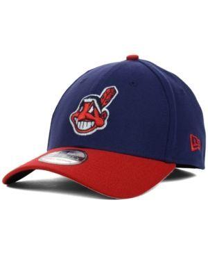 New Era Cleveland Indians Mlb Team Classic 39THIRTY Cap - Navy/Red L/XL