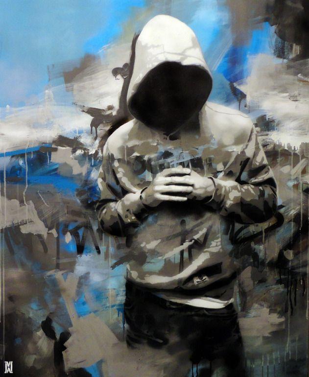 "Saatchi Online Artist: Michal Mráz; Acrylic, Painting ""Standing"""