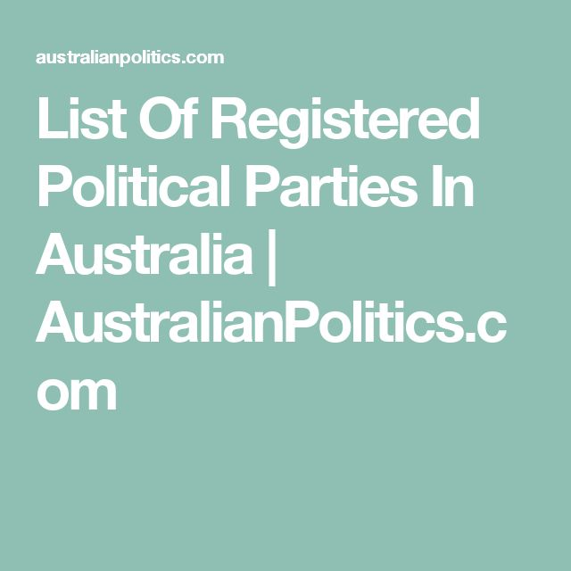 how to start a political party in australia