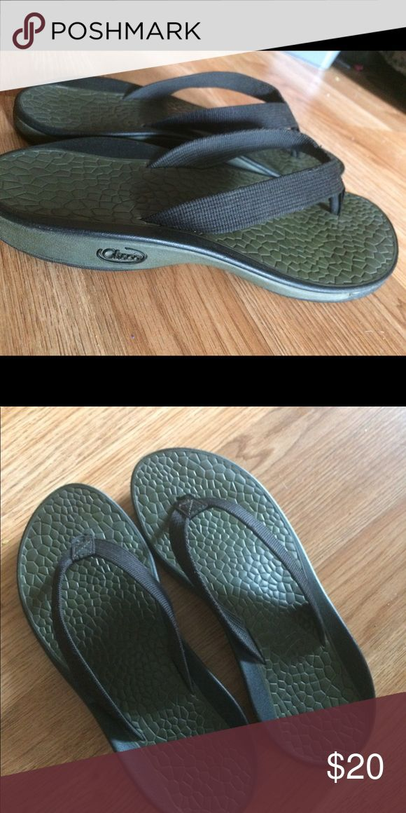 Chaco flip flops Chaco flip flops, don't wear them like I did. Good condition. Chacos Shoes Sandals