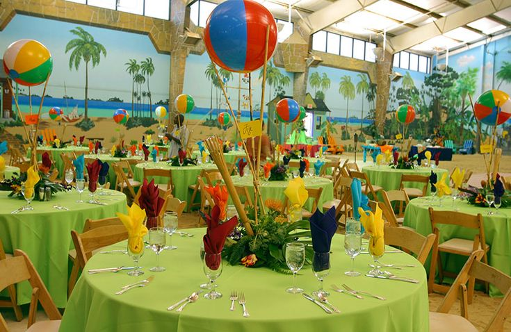 Caribbean Party Tips Theme Parties N More: Mitzvah-party-island-style-table-decor.jpg 846×550 Pixels
