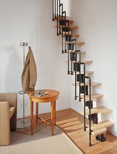 the karina loft stairs can curve left or right or run straight your