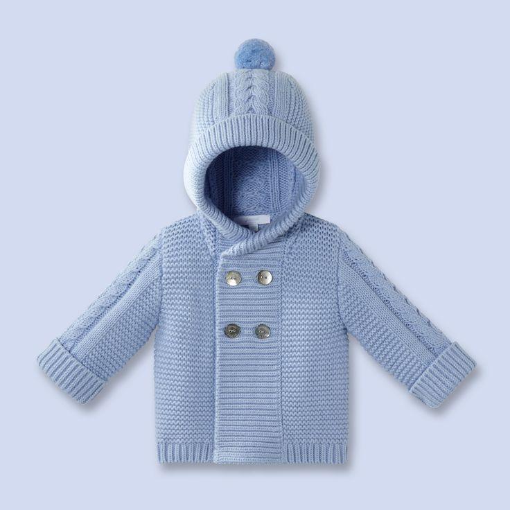 Burnous en tricot pour bébé, garçon