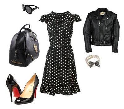 rockabilly: Rockabilly Styles, Rockabilly Fashion, Polka Dots, Rockabilly Outfit, Polkadot, 50S Outfit, Pinup Rockabilly, Leather Jackets, The Dresses