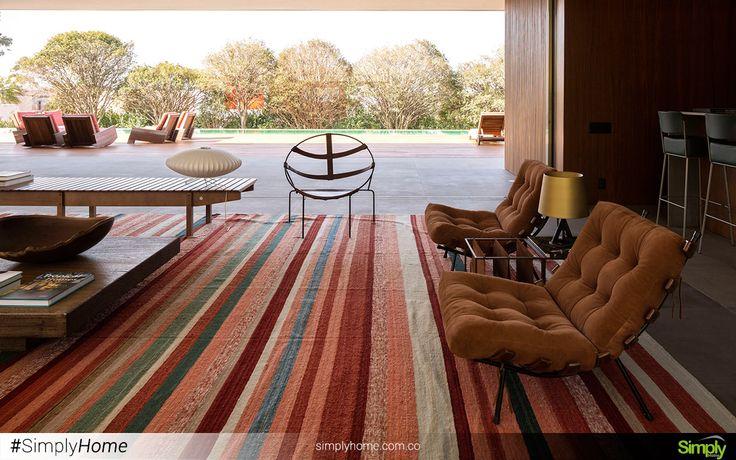 Los colores cálidos hacen más acogedor tus espacios en el hogar. #SimplyHome #SimplyHomeCol #Simply #Home #Decoracion
