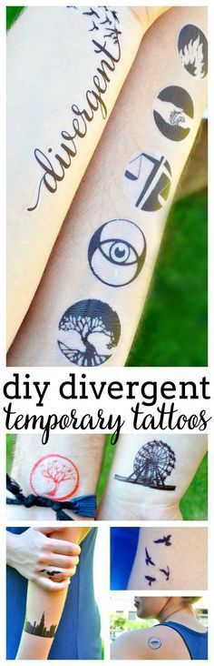 So machen Sie temporäre Tattoos für Divergent – diy tattoo ideas