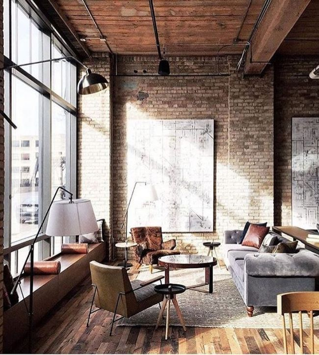 Awesome Style And Great Brick Wall Inspiring Decorating Ideas 5 In 2018 Pinterest House Design Loft Design And Industrial House Industrial Interior Design Industrial Livingroom Loft Interiors