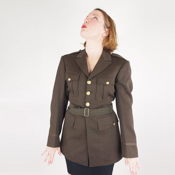 40s WWII Army Officer's Uniform Coat 36L by denisebrain on Etsy, $80.00