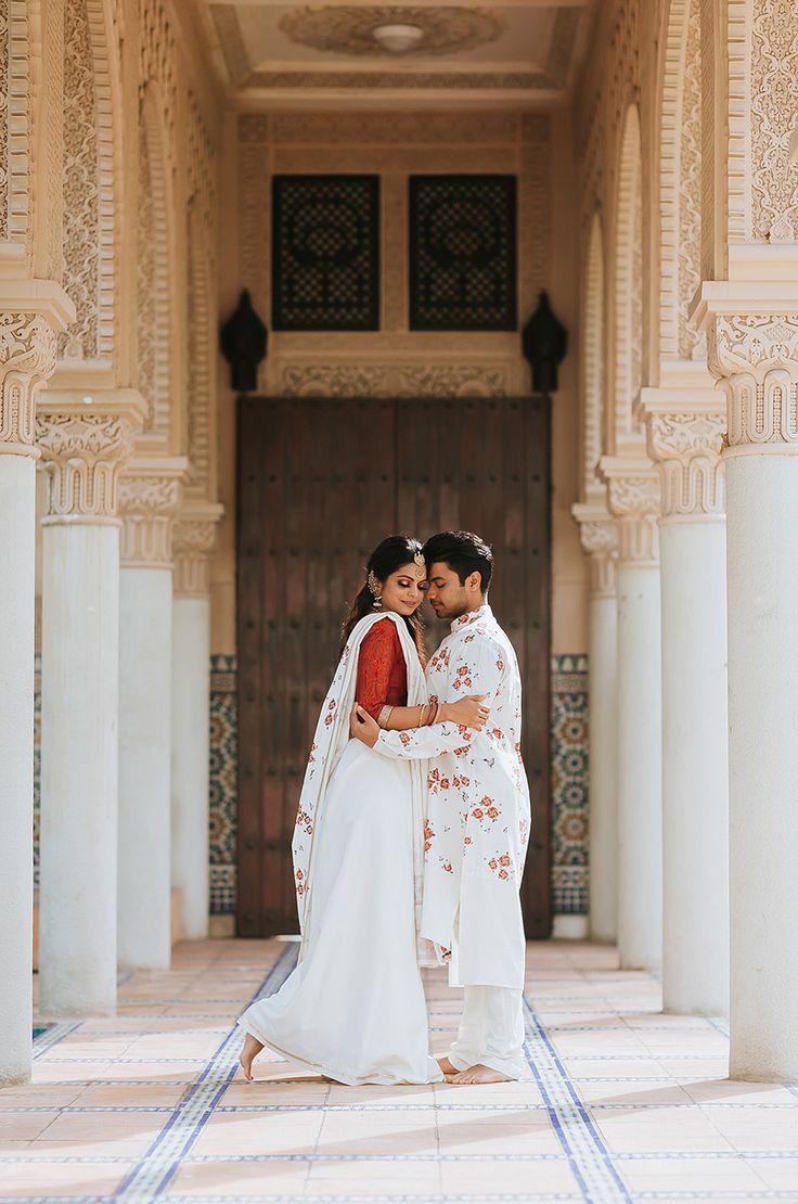 Indian coupleu0027s Moroccan inspired pre wedding photo shoot