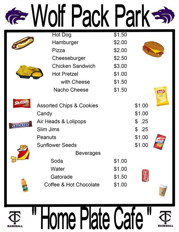 It's just an image of Adaptable Concession Stand Signs Printable
