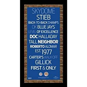 MLB Toronto Blue Jays Subway Sign Wall Art with Authentic Dirt from the Rogers Centre, 9.5x19-Inch, Price: $54.28 - You Save: $5.71 (10%)