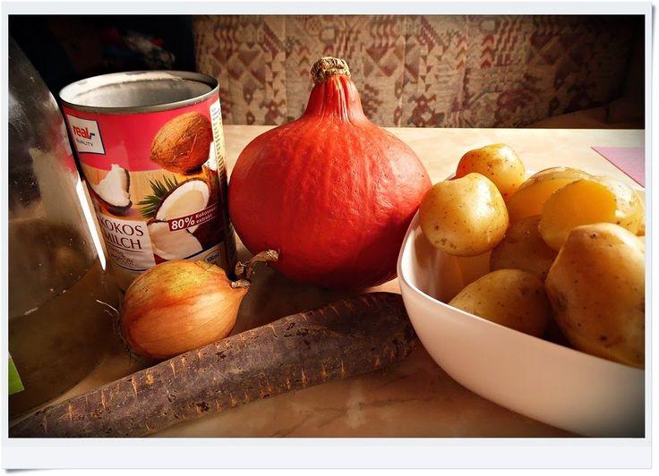 My Vegan Kitchen: Dynia z ziemniakami