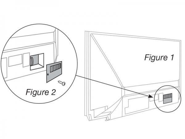 mitsubishi tv lamp removal step 1