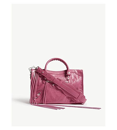 BALENCIAGA Classic City textured leather shoulder bag. #balenciaga #bags #shoulder bags #hand bags #leather #