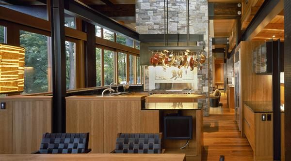 Home Design, Luxury and Modern Wooden House Design Ideas with Nature Surround – Island Residence: Luxury and Modern Wooden House Design Ideas with Nature Surround Kitchen ~ modern nature house, modern house design, modern wood house, wooden house, front entrance design ideas, Home Design ~ Homedesigndecorating.com