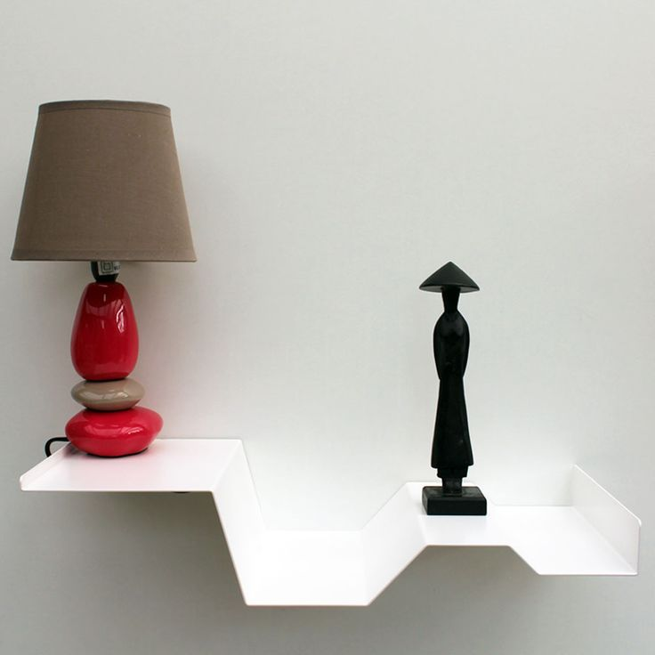 Chevet suspendu table de nuit suspendue en métal coloris blanc