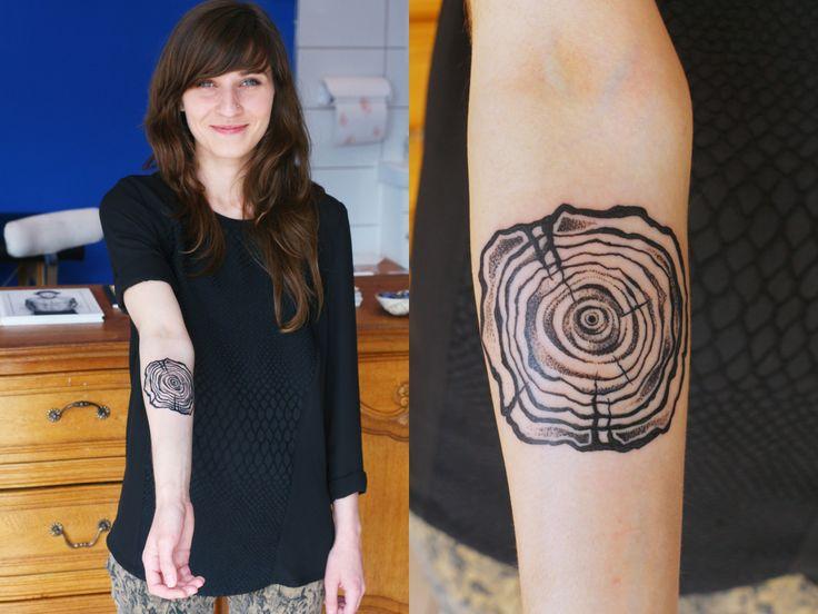 Gorgeous tree ring tattoo