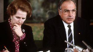 Margaret Thatcher 1982 bei Helmut Kohl in Bonn: Obwohl beide Konservative waren, reichte es nicht für eine politische Freundschaft. (Quelle: dpa)