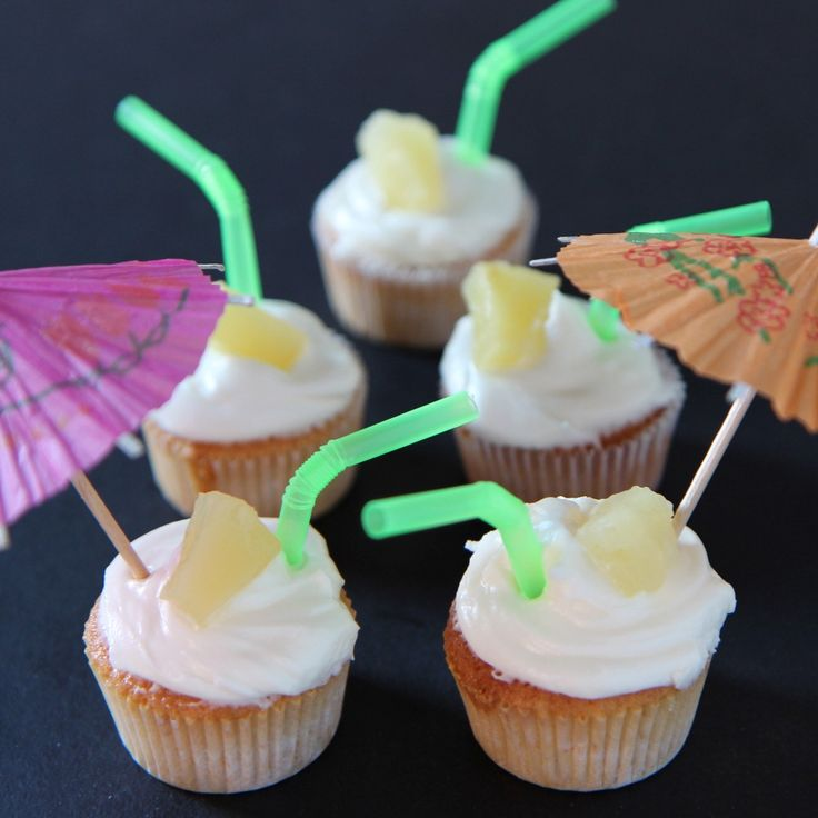 Try these deliciously sweet pina colada mini cupcakes recipe from BakingMad.com and bring the holidays home this summer!