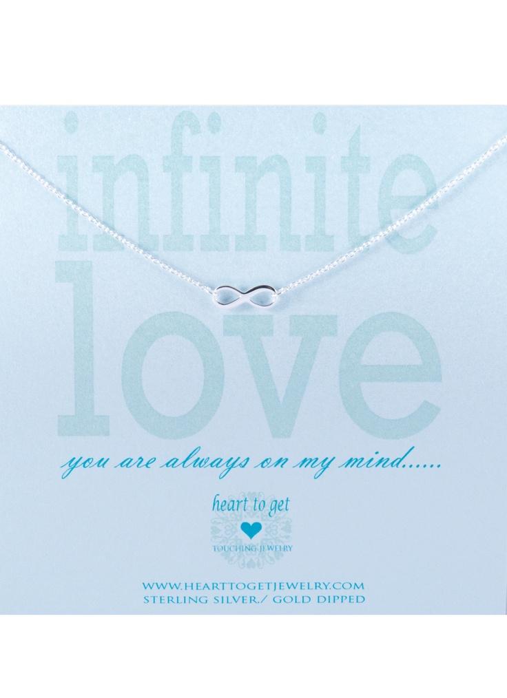 Heart To Get Ketting 'Infinite love' met hangertje