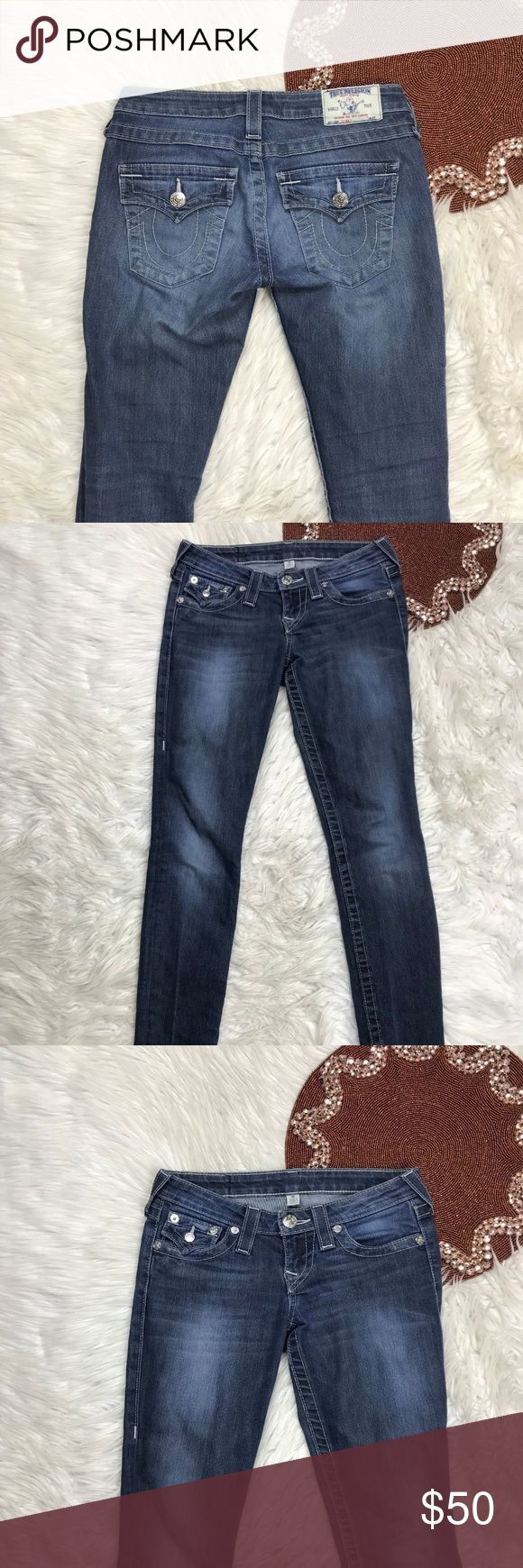 True Religion Skinny Women Jeans Sz 26 X 30 2-1 Pre Owned  * Color(s) may vary slightly from photos  * Refer to photos for detail, photos are considered part of the description True Religion Jeans Skinny