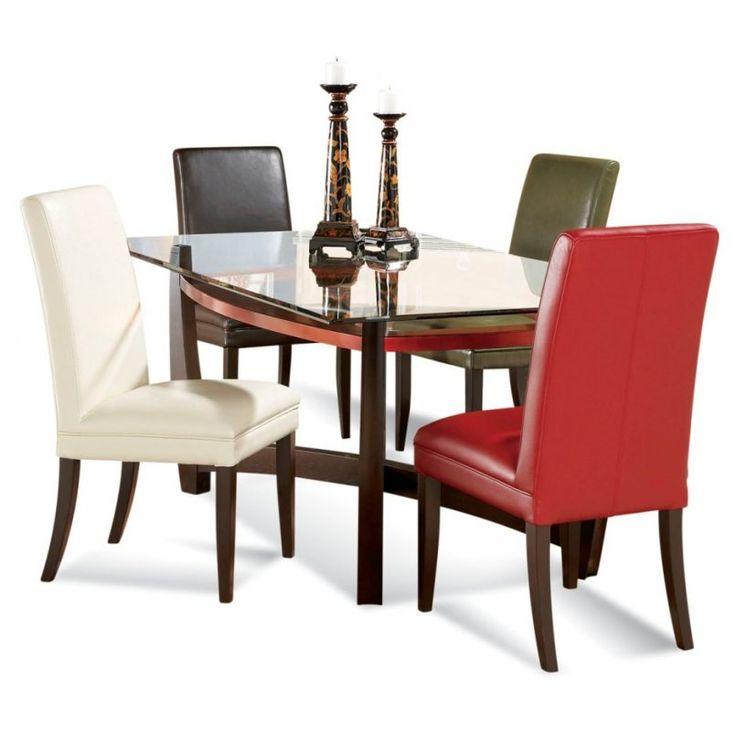 Bassett Mirror Elation Rectangular Glass Top Dining Table