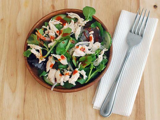 Shredded Chicken Salad With Gochujang Dressing