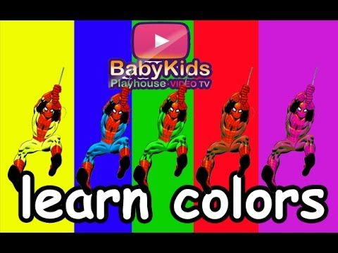 #Learn #colors with #Superhero #Spiderman and sing a #Finger #Family #Rhymes with us.