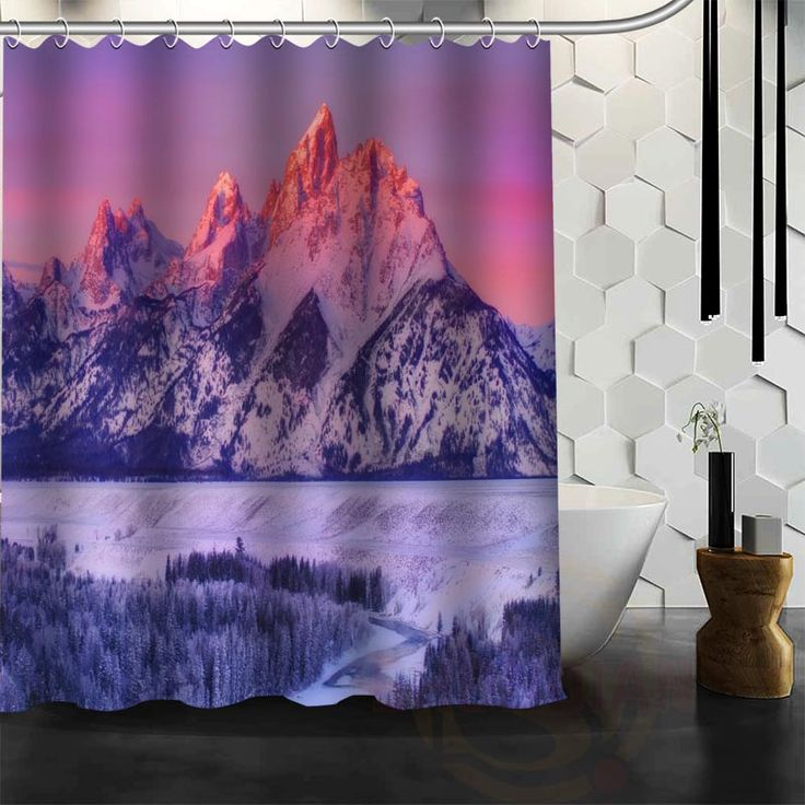 Best Nice Custom Beautiful Winter landscape Shower Curtain Bath Curtain Waterproof Fabric For Bathroom MORE SIZE WJY&156