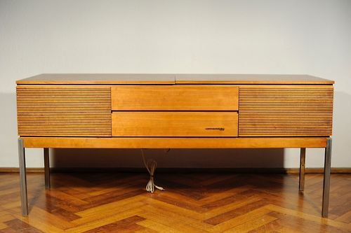 1960s Slim Philips Palisander Wood Stereo Hi-Fi Automatic Record...