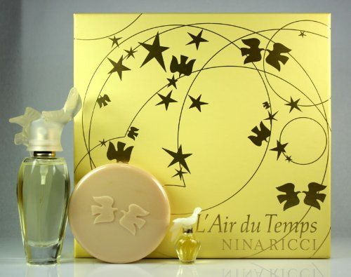 Nina Ricci L'Air Du Temps Perfume Gift Set: 1.7oz EDT Spray, 0.8oz EDT Purse Spray & 3.3oz Body Soap by Nina Ricci. Save 26 Off!. $38.99