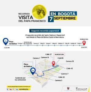 Aprenda Cómo moverse durante visita papal en Bogotá?