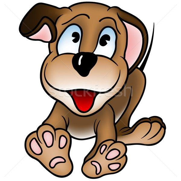 Stock fotó: Kutyakölyök · kutya · rajz · vektor · boldog · állat