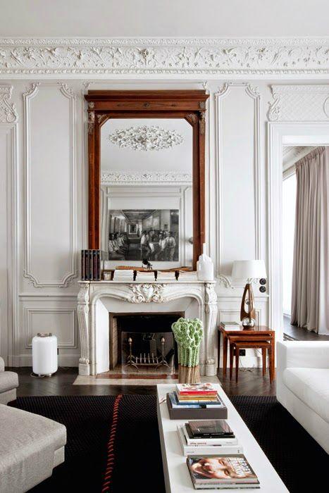 Moderno francés contemporáneo parisino Interiors 12