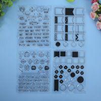 Nuovo arrivo, 4 set di bandiere, giri, ragazzo + ragazza/nuovo bambino francobolli craft silicone trasparente francobolli per scrapbooking, fabbricazione della carta