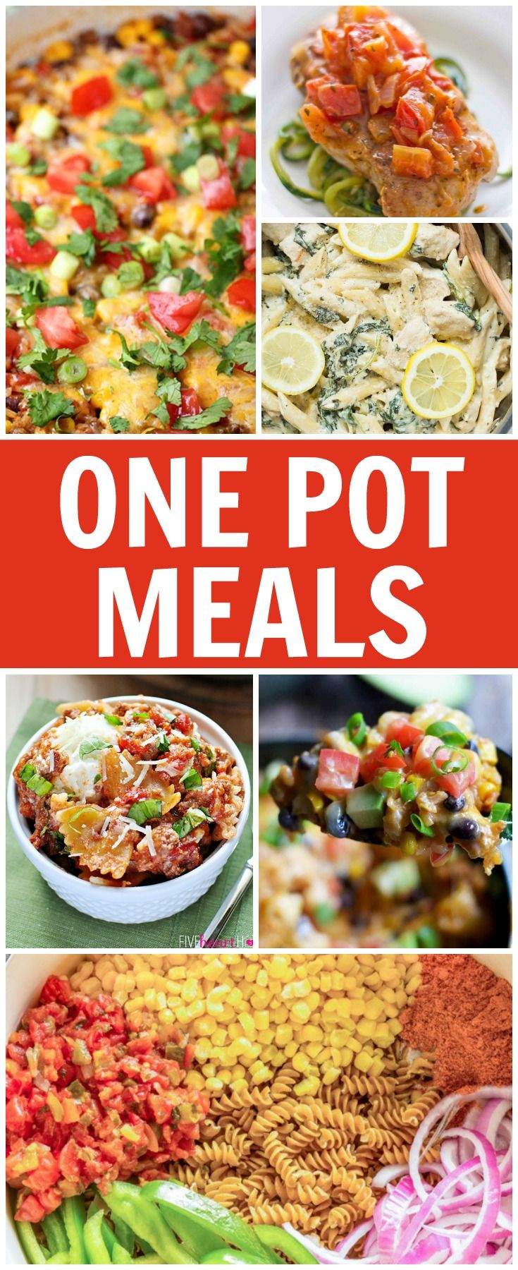 Scrumptious dinner ideas that require only one pot or skillet to pull together. Try one of these One Pot Meals for less stress and less mess for any night of the week!