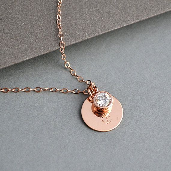Best 25 rose gold initial necklace ideas on pinterest for Rose gold personalized jewelry