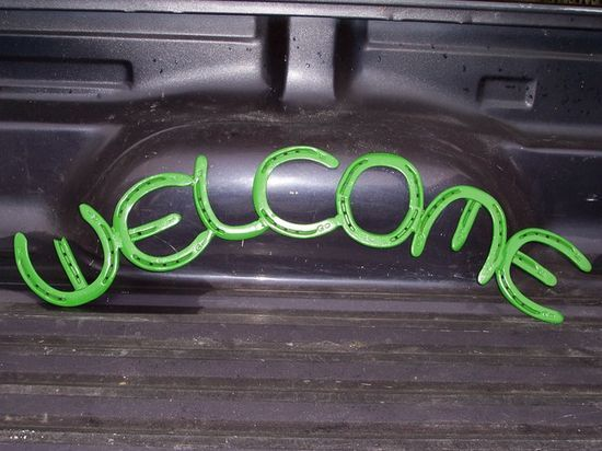 DIYATOR » Blog Archive » Welding Projects — Horseshoe Welcome Sign
