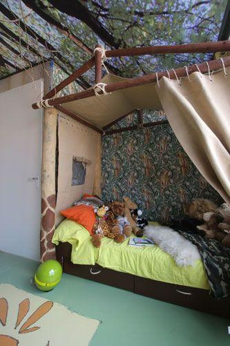 Een jungle slaapkamer - FANtv.nl | Kinderkamer | Pinterest