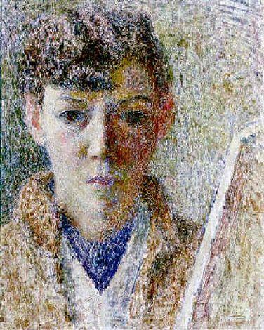 Self-portrait by Dod Procter, oil on panel