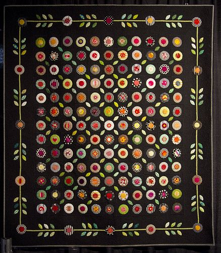 Love this contemporary, folksy version of a traditional applique quilt, from the 2012 International Quilt Show in Cincinnati (don't know the maker)